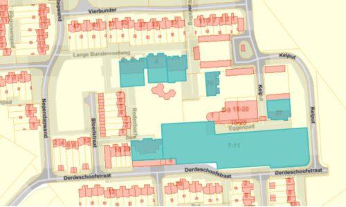 PT 30: Houtem - nieuwe flatgebouwen - inplanting