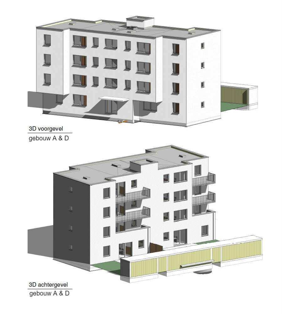 PT 30: Houtem - nieuwe flatgebouwen - gebouw A & D
