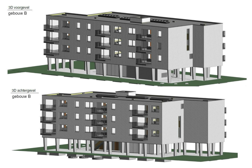 PT 30: Houtem - nieuwe flatgebouwen - gebouw B