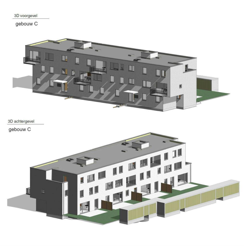 PT 30: Houtem - nieuwe flatgebouwen - gebouw C