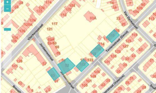 PT 8: J.Jordaensstraat & D. Teniersstraat - inplanting